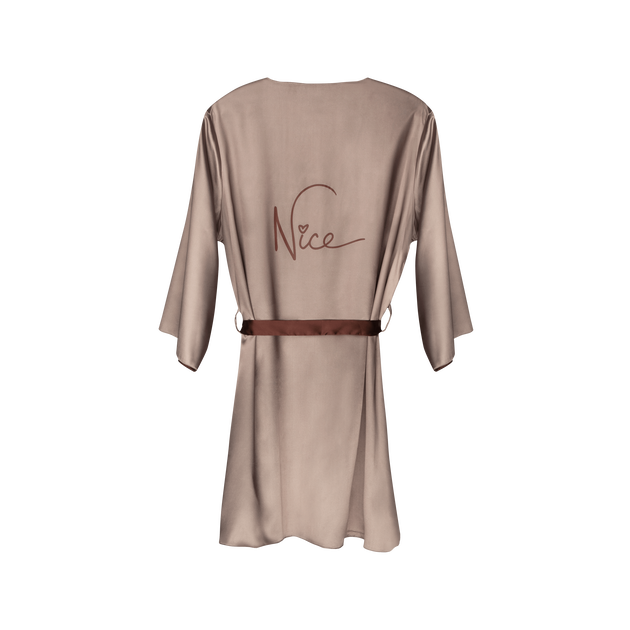 Naughty Nude Reversible Robe, , hi-res